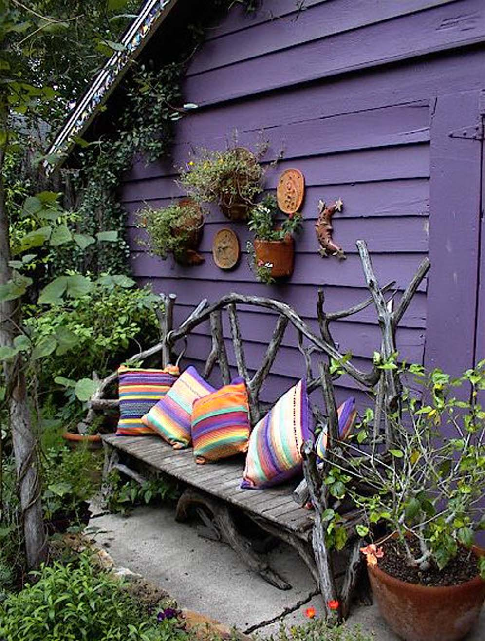 Colorful Country Bench